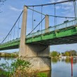 France, suspension bridge of Triel Sur Seine — Stock Photo