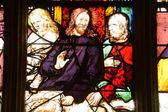 France, vitrail dans l'église de saint martin de triel — Photo
