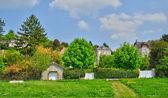Wieś vetheuil w val d oise — Zdjęcie stockowe