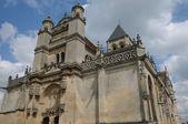 France, the renaissance church of Vetheuil — Stock Photo
