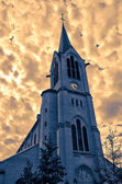 France, HDR picture of Saint Pierre Saint Paul church in Les Mu — Stock Photo