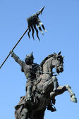 William the Conqueror statue in Falaise in Normandie — Stock Photo
