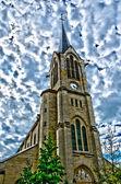 France, hdr photo de l'église saint pierre saint paul les mu — Photo