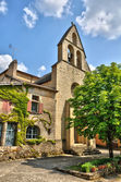 Perigord, the picturesque Notre Dame du Bourg church of Biron in — Stock Photo