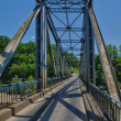 Iron bridge of Lacave in Lot — Stock Photo