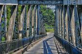 Iron bridge of Lacave in Lot — Stock Photo