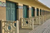 Plażowe deauville w normandia — Zdjęcie stockowe