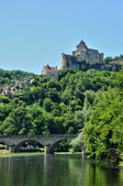 France, picturesque castle of Castelnaud in Dordogne — Stock Photo