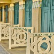 Beach huts of Deauville in Normandie — Foto de Stock