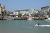 France, Trouville port in Normandy — Stockfoto