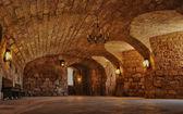Perigord, the castle of Hautefort in Dordogne — Stock Photo