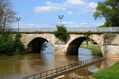 France, old bridge of Poissy in Les Yvelines — Stock Photo