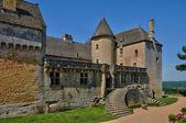 Perigord, the picturesque castle of Fenelon in Dordogne — Stock Photo