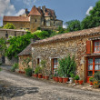 Perigord, the picturesque village of Biron in Dordogne — Stock Photo