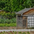 Stock Photo: France, allotment garden in Les Mureaux
