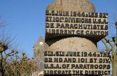 D Day memorial in Sainte mere Eglise in Normandie — Stock Photo