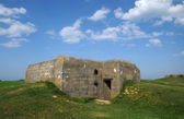 Artilleriebatterie longues-sur-mer in der basse-normandie — Stockfoto
