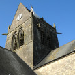 Church of Sainte mere Eglise in Normandie — Stok Fotoğraf #34220247