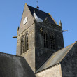 图库照片: Church of Sainte mere Eglise in Normandie