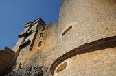 Perigord, the picturesque castle of Castelnaud in Dordogne — Stock Photo
