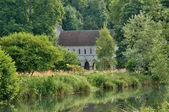 France, abbey of Fontaine Guerard in Radepont — Stock Photo