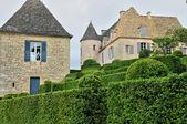France, picturesque garden of Marqueyssac in Dordogne — Photo