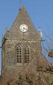 Church of Sainte mere Eglise in Normandie — Stock Photo