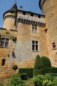 France, picturesque castle of Puymartin in Dordogne — Stock Photo