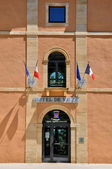 France, city hall of Hautefort in Dordogne — Stock fotografie
