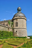 France, castle of Hautefort in Dordogne — Stock Photo