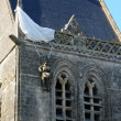 Stock Photo: Church of Sainte mere Eglise in Normandie