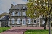 France, city hall of Courtils in Normandie — Stock Photo