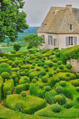 France, picturesque garden of Marqueyssac in Dordogne — Stock Photo
