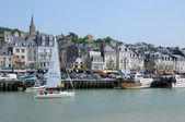 France, Trouville port in Normandy — Stok fotoğraf