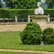 Stock Photo: France, canon castle garden in Normandie