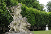 France, statue in the classical park of Marly le Roi — Stock Photo
