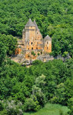 France, picturesque castle of Laussel in Dordogne — Stock Photo