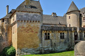 France, picturesque castle of Fenelon in Dordogne — Stock Photo