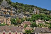 France, picturesque village of La Roque Gageac in Dordogne — Stok fotoğraf