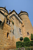 France, picturesque castle of Puymartin in Dordogne — Stock Photo