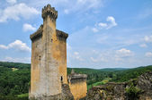 France, picturesque castle of Commarque in Dordogne — Stock Photo