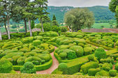 France, picturesque garden of Marqueyssac in Dordogne — Foto Stock