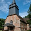 Stock Photo: Le Tronquay church in Normandie