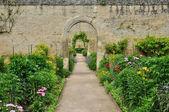 France, canon castle garden in Normandie — Stock Photo
