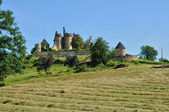 France, picturesque castle of Saint Vincent le Paluel — Stock Photo