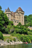 France, picturesque castle of La Malartrie in Vezac — Stock Photo