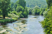 France Vezere river in Tursac — Stock Photo