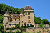 Francie, malebný hrad la malartrie v vezac — Stock fotografie