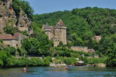France, the picturesque village of La Roque Gageac in Dordogne — Stock Photo