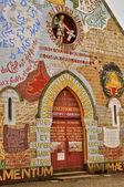 France, picturesque church of Menil Gondouin — Stock Photo